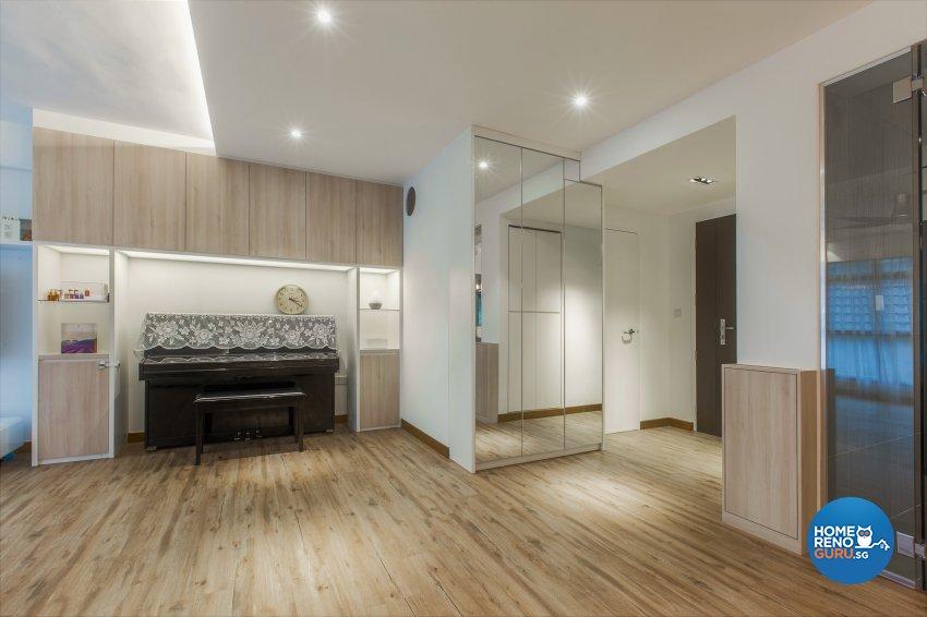Minimalist, Resort Design - Living Room - HDB 5 Room - Design by The Two Big Guys LLP