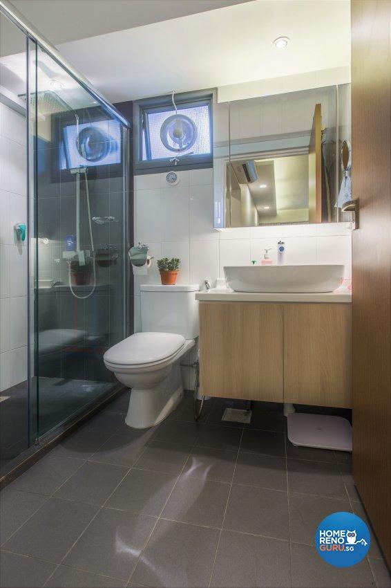 Minimalist, Resort Design - Bathroom - HDB 5 Room - Design by The Two Big Guys LLP