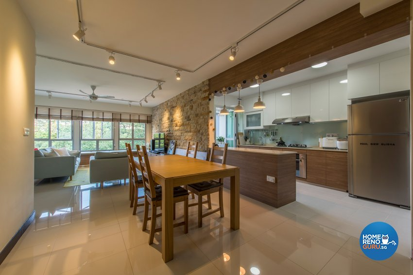 Country Design - Dining Room - HDB 4 Room - Design by The Two Big Guys LLP