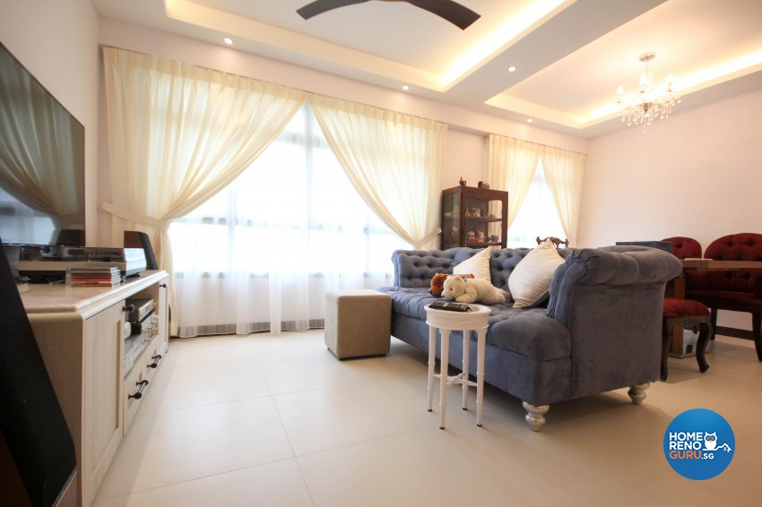 Classical, Country Design - Living Room - HDB 5 Room - Design by TBG Interior Design