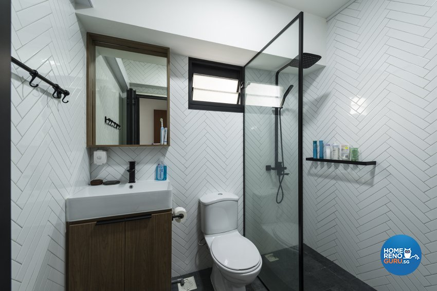 Country, Minimalist, Rustic Design - Bathroom - HDB 5 Room - Design by The Two Big Guys LLP