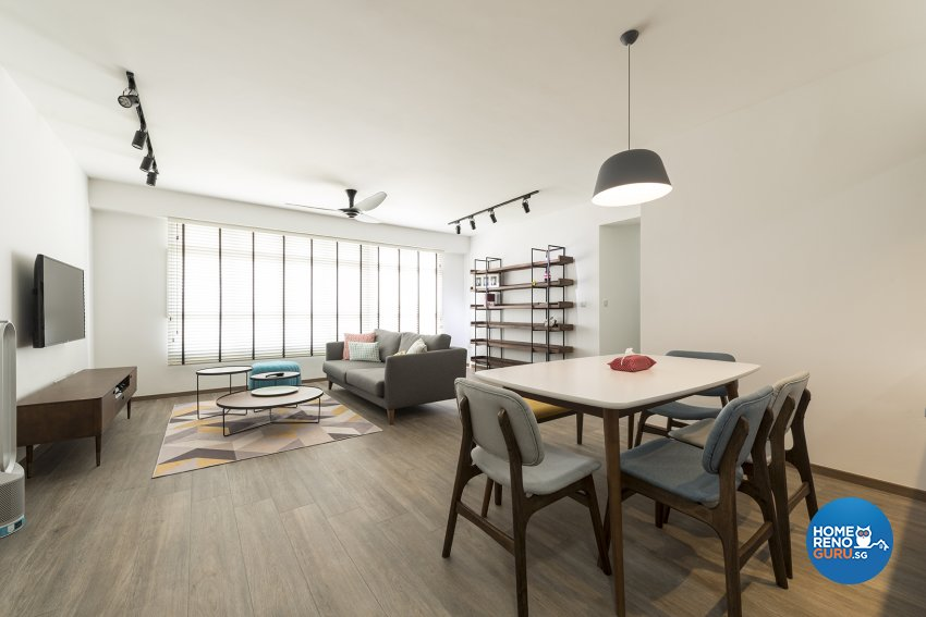 Country, Minimalist, Rustic Design - Living Room - HDB 5 Room - Design by The Two Big Guys LLP