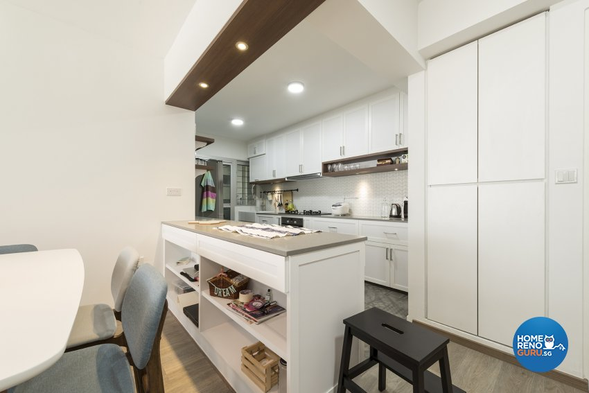 Country, Minimalist, Rustic Design - Kitchen - HDB 5 Room - Design by The Two Big Guys LLP