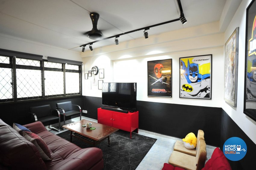 Others, Retro Design - Living Room - HDB 4 Room - Design by TBG Interior Design