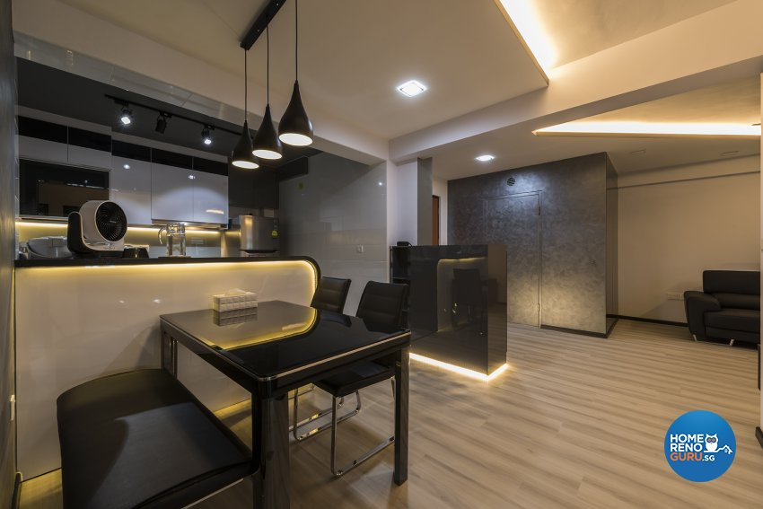 Contemporary Design - Dining Room - HDB 4 Room - Design by The Two Big Guys LLP
