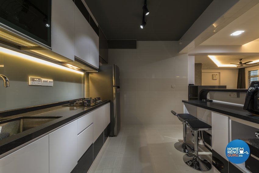 Contemporary Design - Kitchen - HDB 4 Room - Design by The Two Big Guys LLP