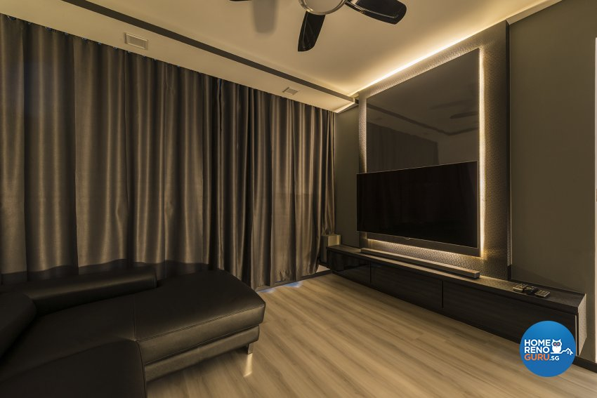 Contemporary Design - Living Room - HDB 4 Room - Design by The Two Big Guys LLP