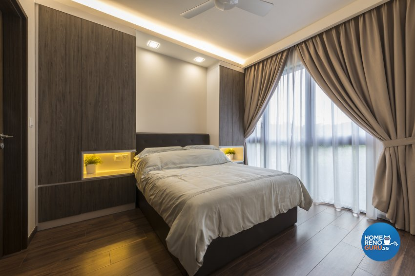 Modern, Resort, Scandinavian Design - Bedroom - Condominium - Design by The Two Big Guys LLP