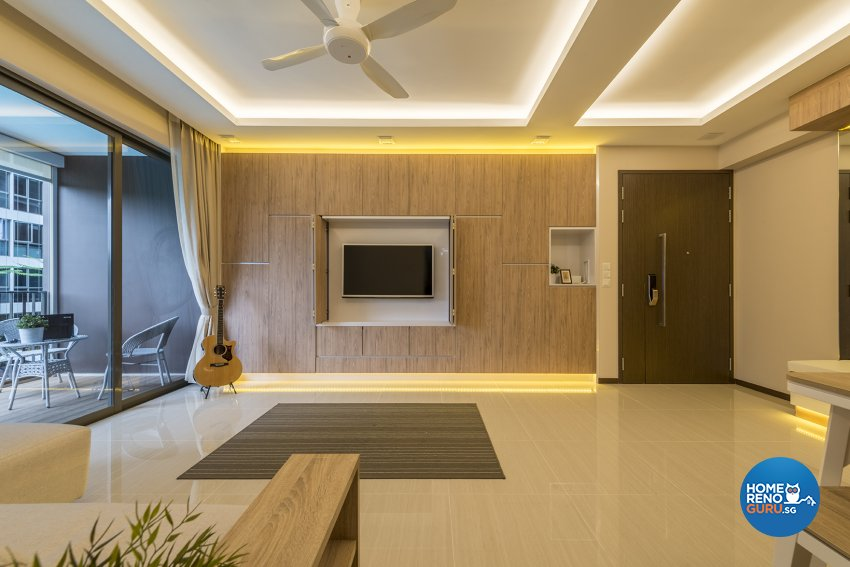 Modern, Resort, Scandinavian Design - Living Room - Condominium - Design by The Two Big Guys LLP