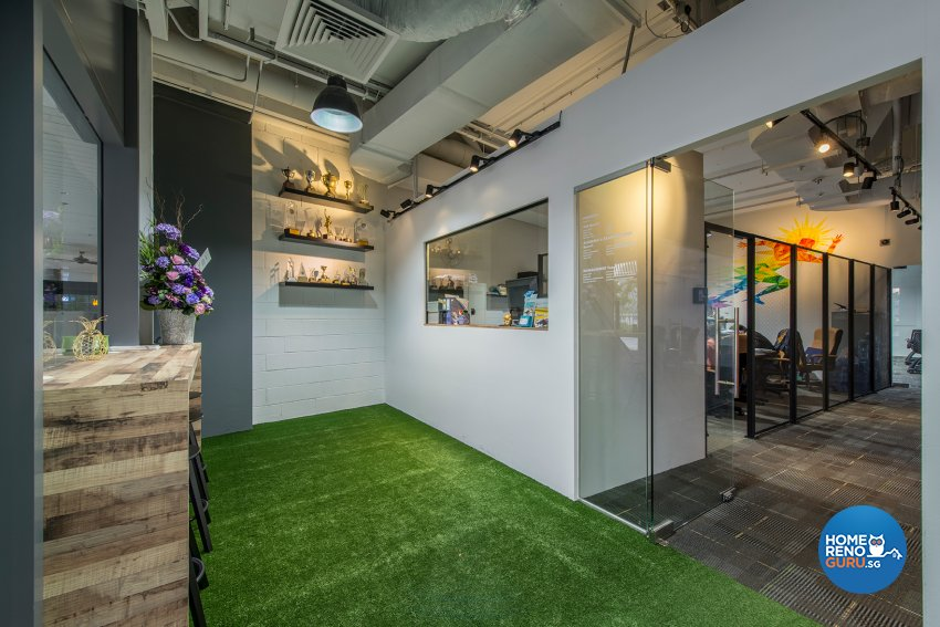 Industrial, Rustic Design - Living Room - Office - Design by TBG Interior Design