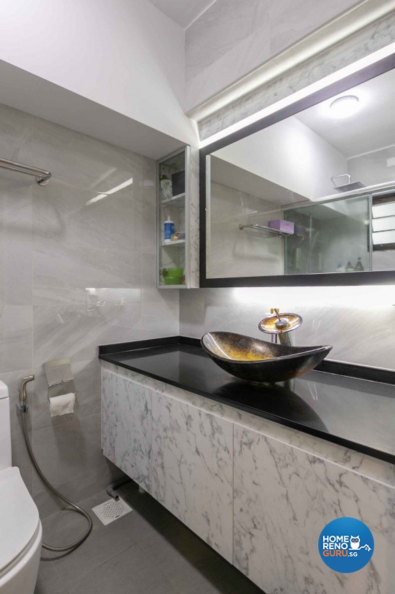 Oriental Design - Bathroom - HDB 5 Room - Design by TBG Interior Design