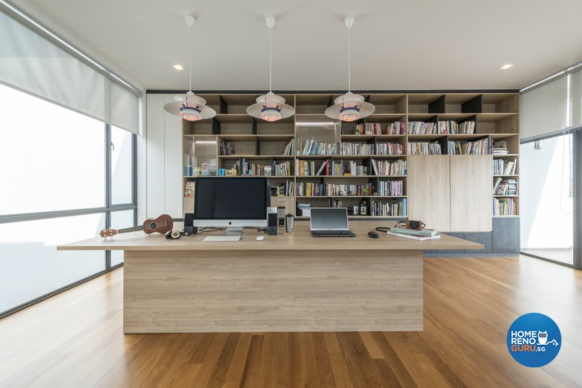 Contemporary Design - Study Room - Landed House - Design by The Two Big Guys LLP