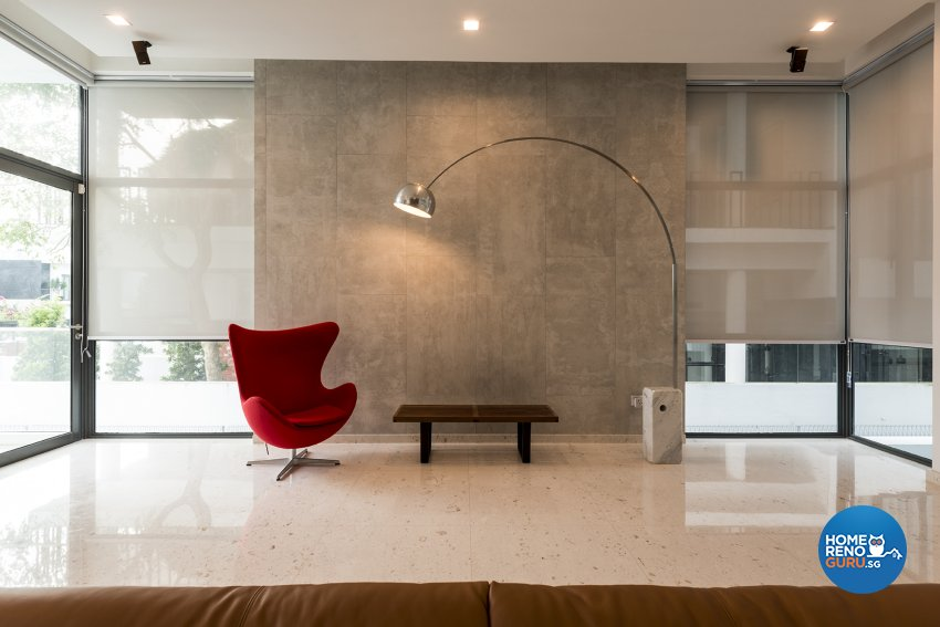 Contemporary Design - Living Room - Landed House - Design by The Two Big Guys LLP