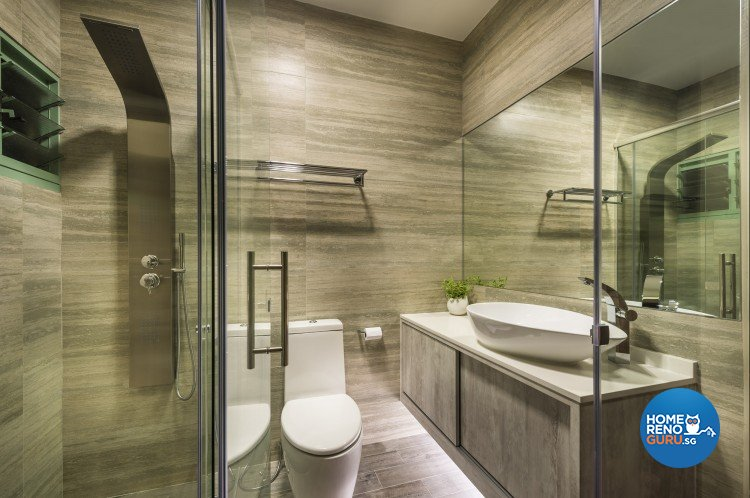 Modern, Resort, Tropical Design - Bathroom - HDB 5 Room - Design by Third Avenue Studio