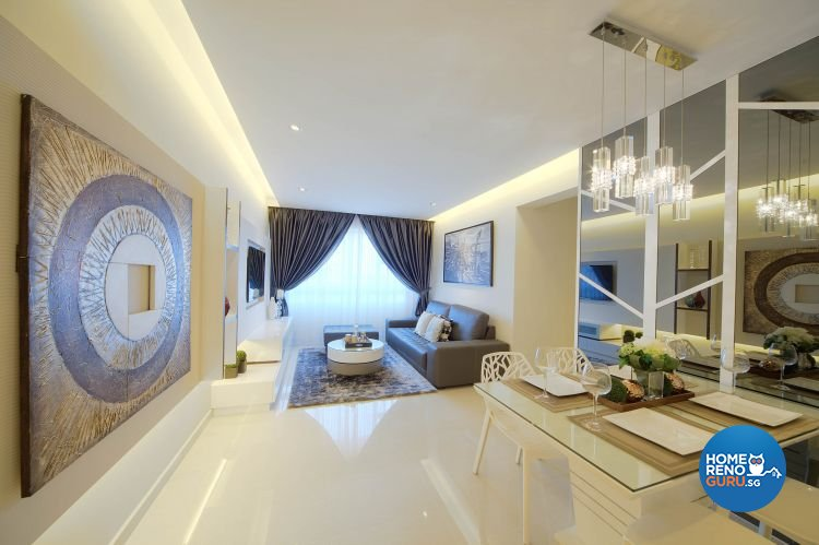 Contemporary, Modern Design - Living Room - HDB 4 Room - Design by Thom Signature Pte Ltd