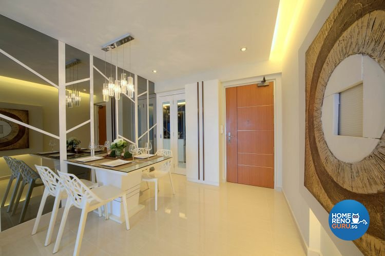 Contemporary, Modern Design - Dining Room - HDB 4 Room - Design by Thom Signature Pte Ltd