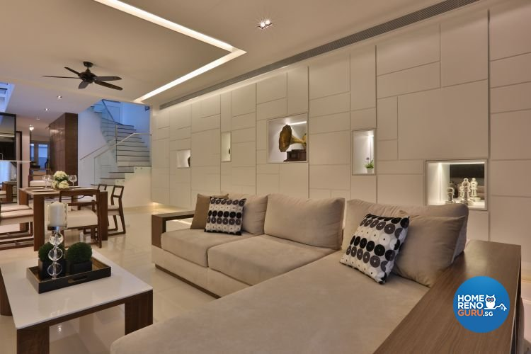 Classical, Contemporary Design - Living Room - Landed House - Design by Thom Signature Pte Ltd