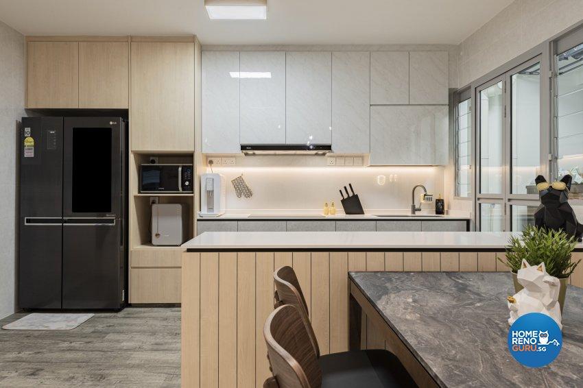 Minimalist, Modern, Scandinavian Design - Kitchen - HDB 3 Room - Design by TKB Contractor Pte Ltd