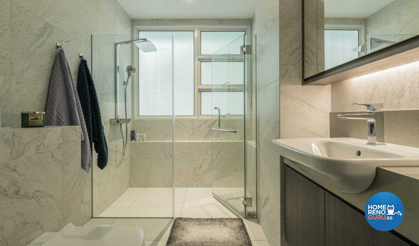 Contemporary, Resort, Tropical Design - Bathroom - HDB Studio Apartment - Design by TKB Contractor Pte Ltd