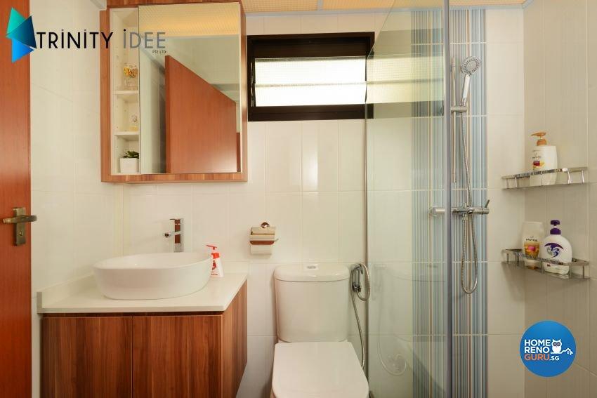 Contemporary Design - Bathroom - HDB 4 Room - Design by Trinity IDee Pte Ltd