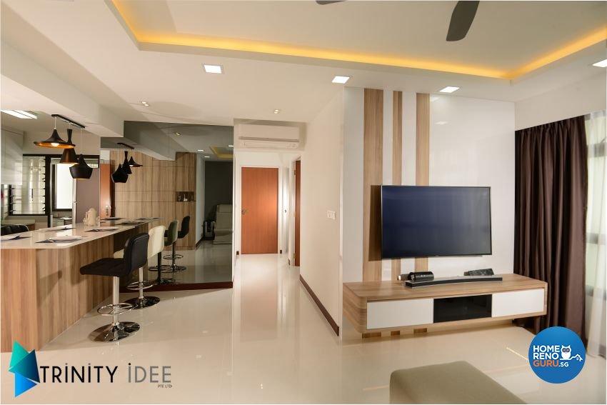 Contemporary Design - Living Room - HDB 4 Room - Design by Trinity IDee Pte Ltd