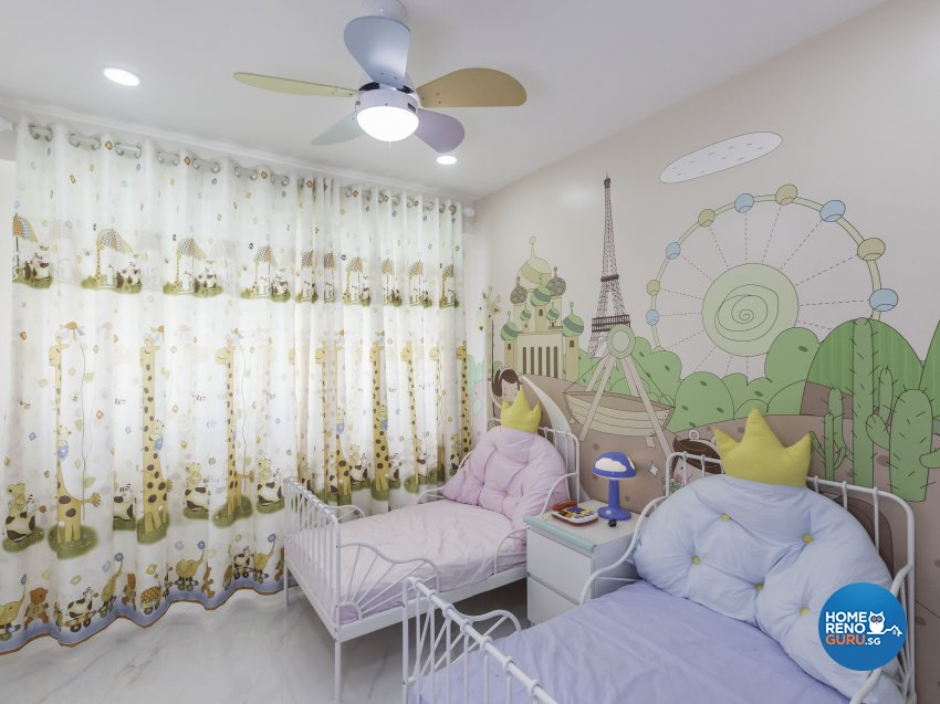 Tropical Design - Bedroom - HDB 4 Room - Design by Trinity IDee Pte Ltd