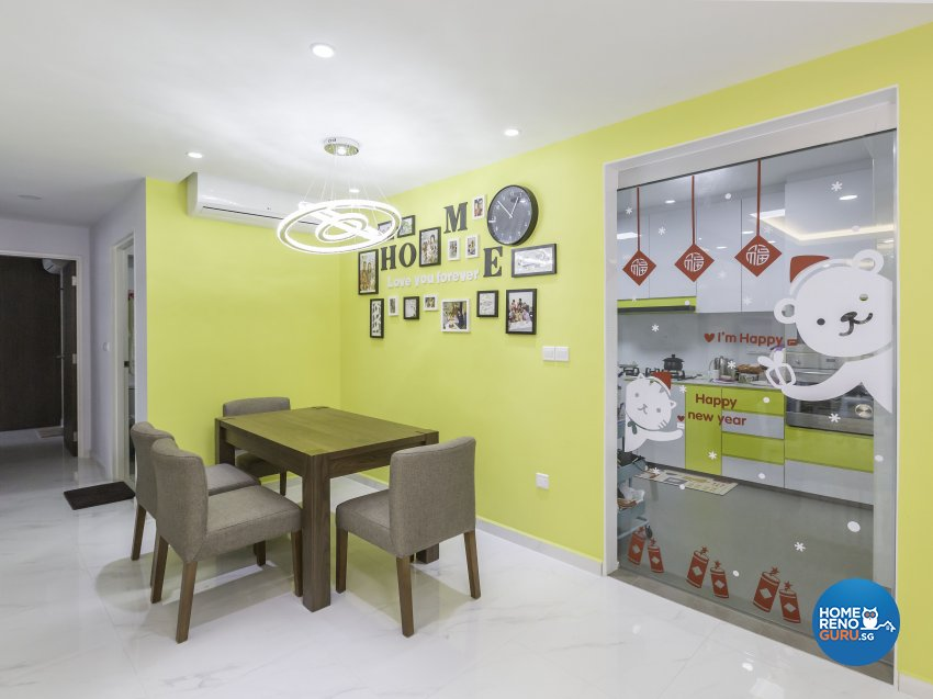 Tropical Design - Dining Room - HDB 4 Room - Design by Trinity IDee Pte Ltd