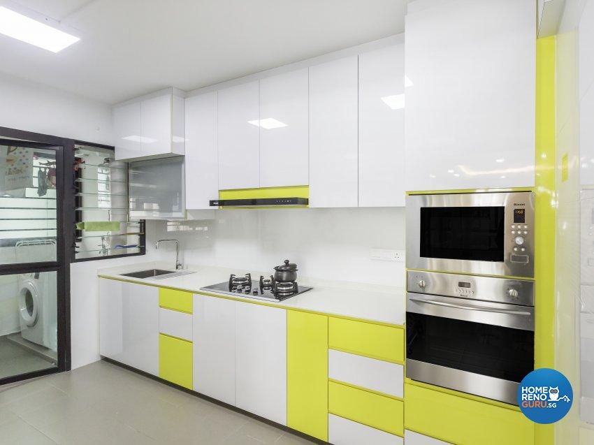 Tropical Design - Kitchen - HDB 4 Room - Design by Trinity IDee Pte Ltd
