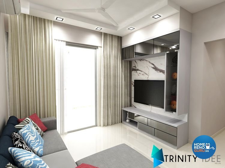 Contemporary, Modern Design - Living Room - Condominium - Design by Trinity IDee Pte Ltd