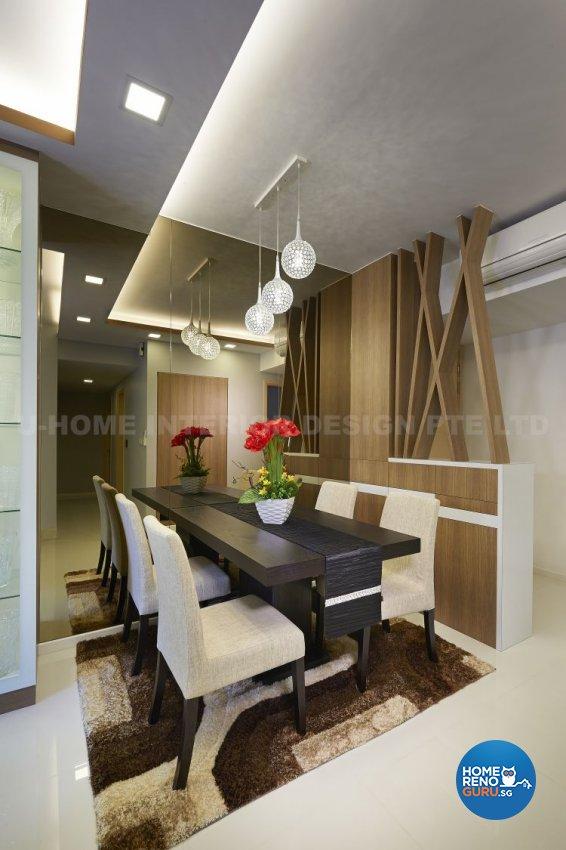 Contemporary, Modern, Resort, Rustic, Tropical Design - Dining Room - Condominium - Design by U-Home Interior Design Pte Ltd