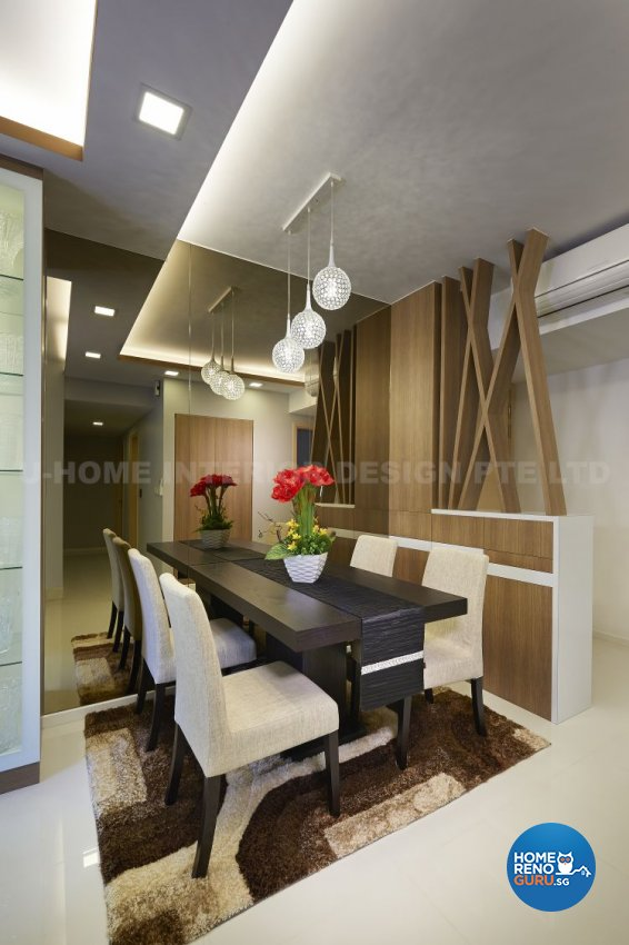 Contemporary, Modern, Resort, Rustic, Tropical Design - Dining Room - Condominium - Design by U-Home Interior Design Pte Ltd