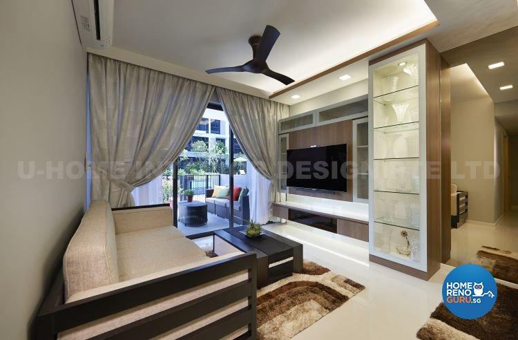 Contemporary, Modern, Resort, Rustic, Tropical Design - Living Room - Condominium - Design by U-Home Interior Design Pte Ltd