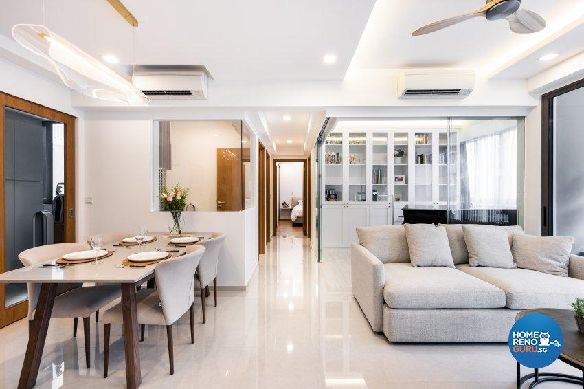 Minimalist Design - Living Room - Condominium - Design by U-Home Interior Design Pte Ltd