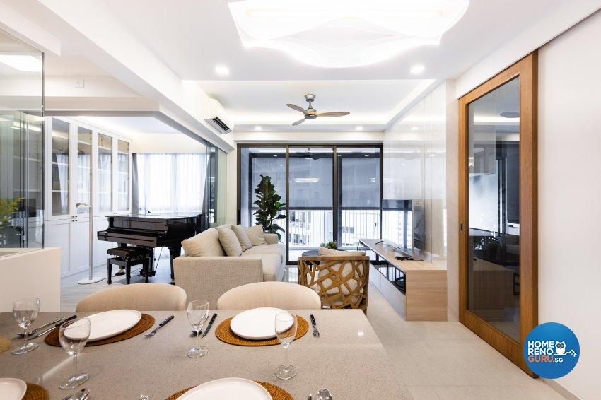 Minimalist Design - Dining Room - Condominium - Design by U-Home Interior Design Pte Ltd