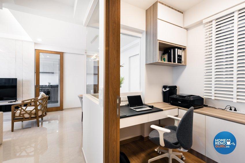 Minimalist Design - Study Room - Condominium - Design by U-Home Interior Design Pte Ltd