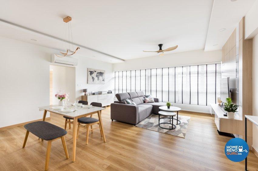 Minimalist, Scandinavian Design - Living Room - HDB 5 Room - Design by U-Home Interior Design Pte Ltd