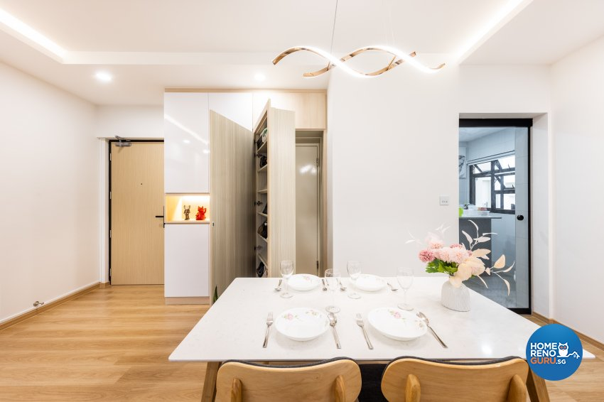 Minimalist, Scandinavian Design - Dining Room - HDB 5 Room - Design by U-Home Interior Design Pte Ltd