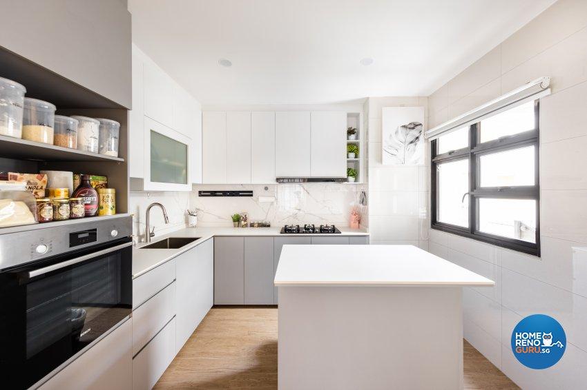 Minimalist, Scandinavian Design - Kitchen - HDB 5 Room - Design by U-Home Interior Design Pte Ltd