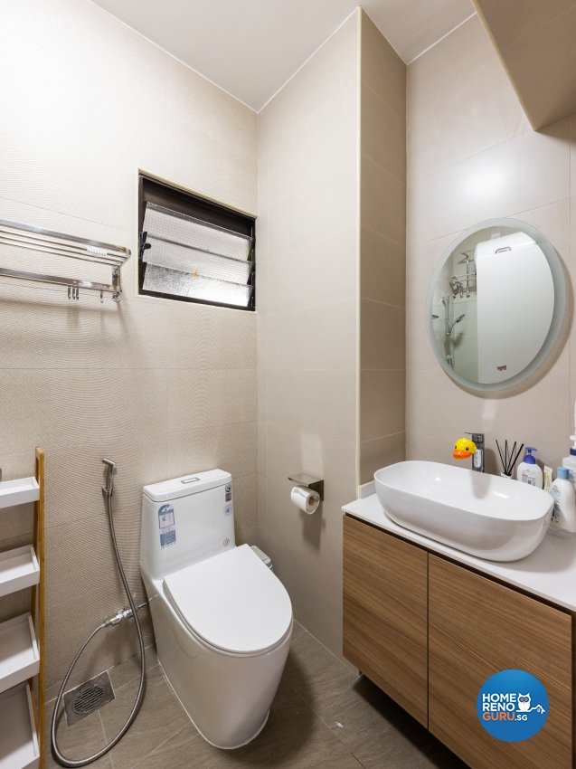 Minimalist, Scandinavian Design - Bathroom - HDB 5 Room - Design by U-Home Interior Design Pte Ltd