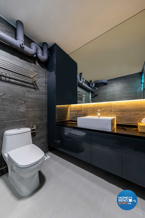 Design - Bathroom - HDB 4 Room - Design by U-Home Interior Design Pte Ltd