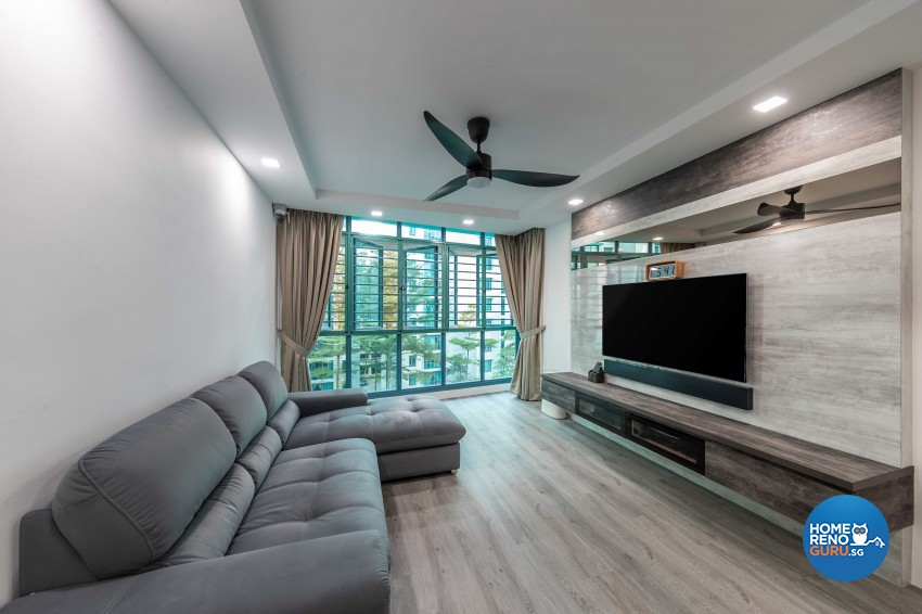 Design - Living Room - HDB 4 Room - Design by U-Home Interior Design Pte Ltd