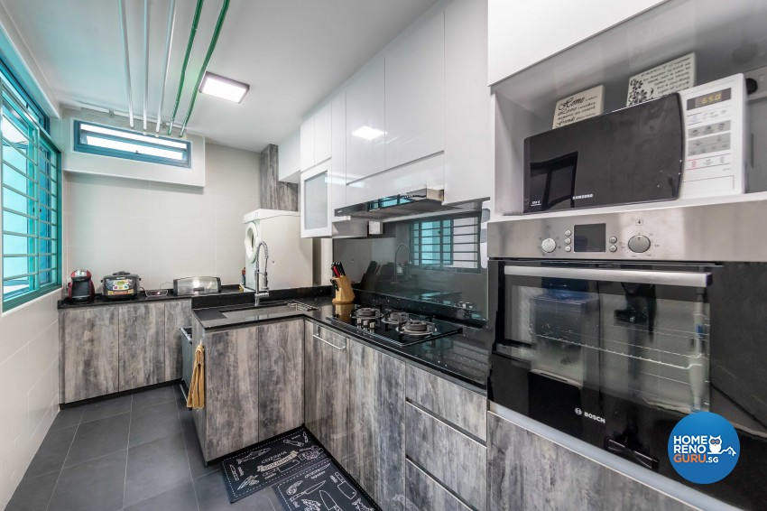 Design - Kitchen - HDB 4 Room - Design by U-Home Interior Design Pte Ltd