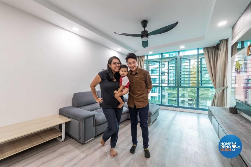 Design - Living Room - HDB 4 Room - Design by U-Home Interior Design Pte Ltd