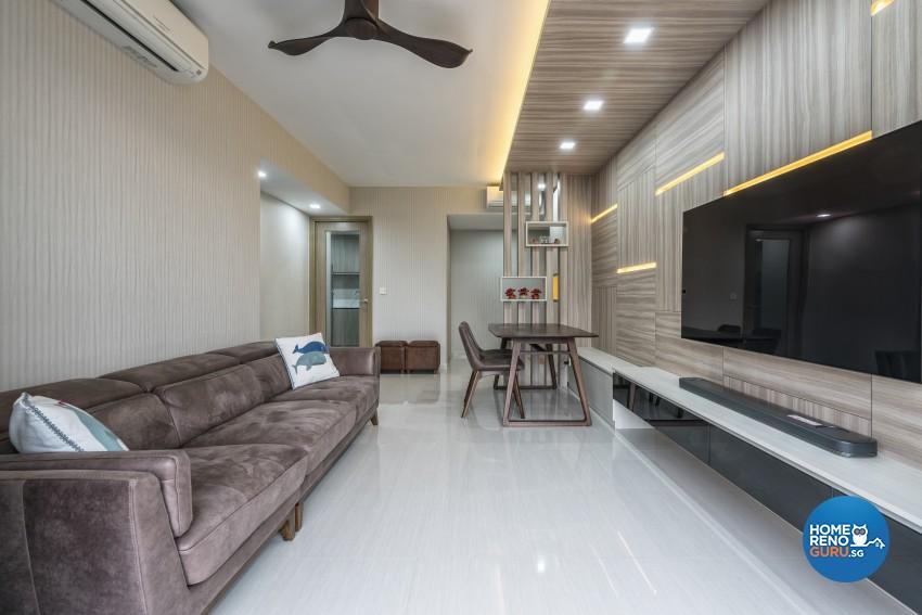 Contemporary Design - Living Room - Condominium - Design by U-Home Interior Design Pte Ltd