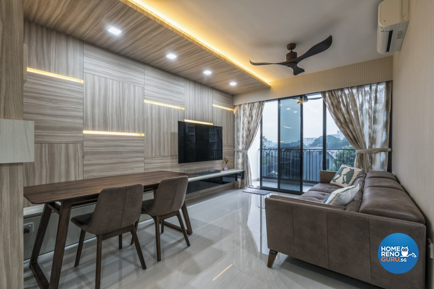 Contemporary Design - Living Room - Condominium - Design by U-Home Interior Design Pte Ltd
