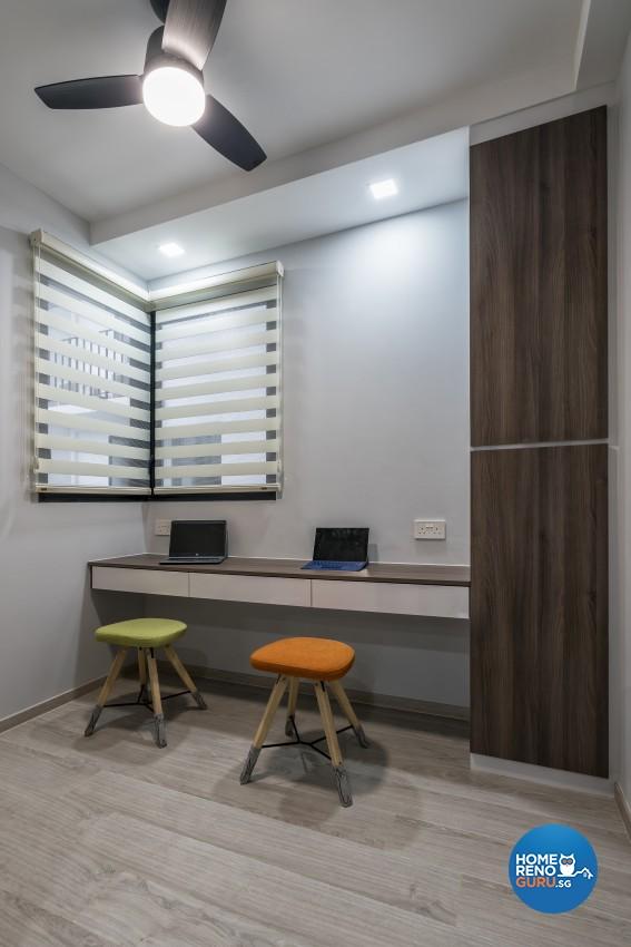 Contemporary Design - Study Room - Condominium - Design by U-Home Interior Design Pte Ltd