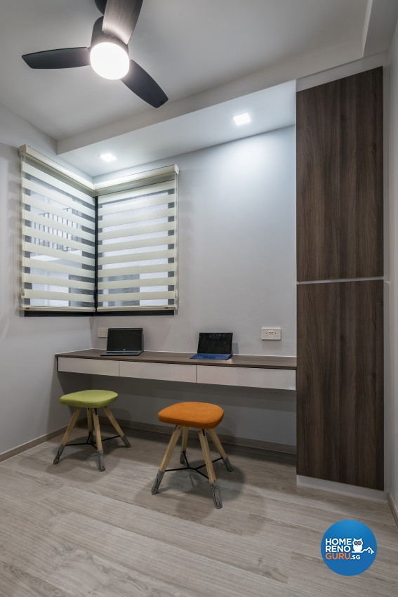 Contemporary Design - Study Room - Condominium - Design by U-Home Interior Design Pte Ltd