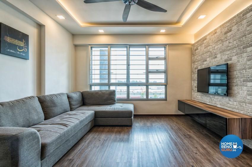 Industrial Design - Living Room - HDB 3 Room - Design by U-Home Interior Design Pte Ltd
