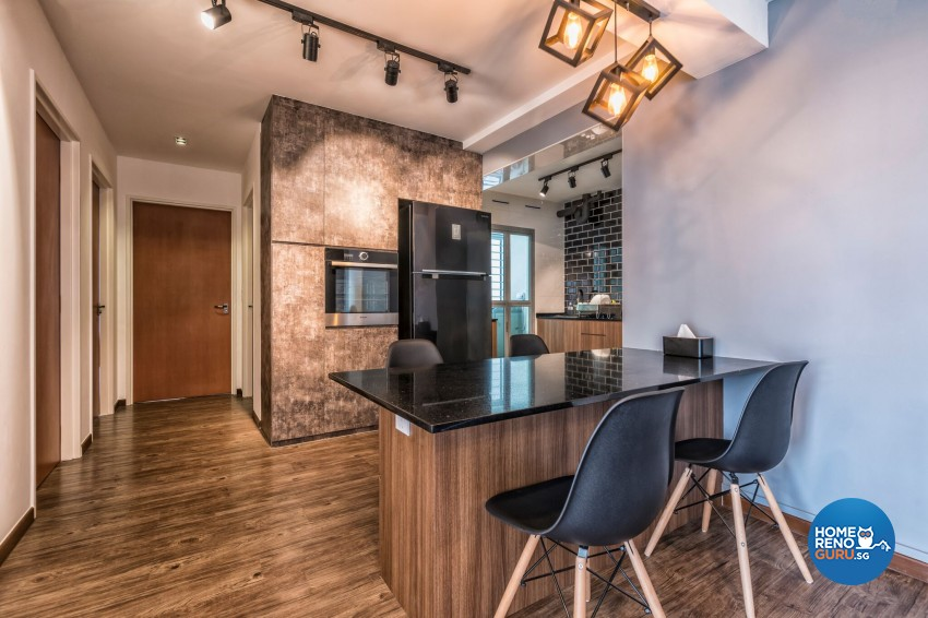 Industrial Design - Dining Room - HDB 3 Room - Design by U-Home Interior Design Pte Ltd