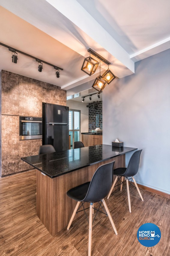 Industrial Design - Dining Room - HDB 3 Room - Design by U-Home Interior Design Pte Ltd